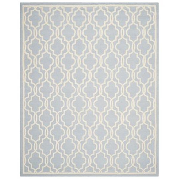 Safavieh Cambridge 3-ft x 10-ft Light Blue/Ivory Rectangular Area Rug