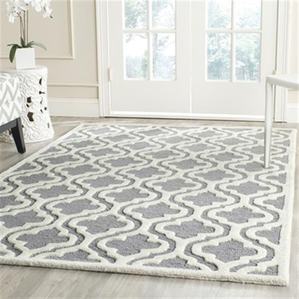 Safavieh Cambridge 3-ft x 10-ft Silver and Ivory Rectangular Area Rug