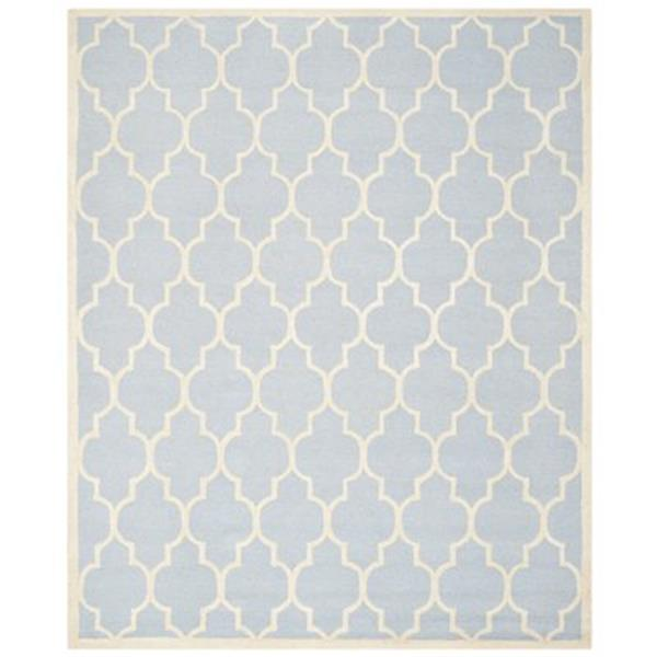 Safavieh Cambridge 3-ft x 10-ft Light Blue and Ivory Rectangular Area Rug