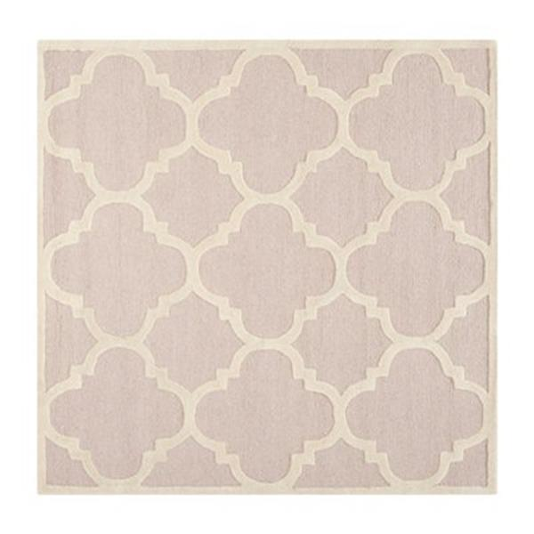 Safavieh Cambridge 6-ft x 6-ft Light Pink and Ivory Square Area Rug
