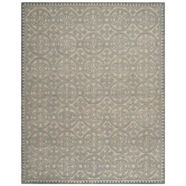 Safavieh Cambridge 3-ft x 10-ft Dusty Blue and Cement Rectangular Area Rug