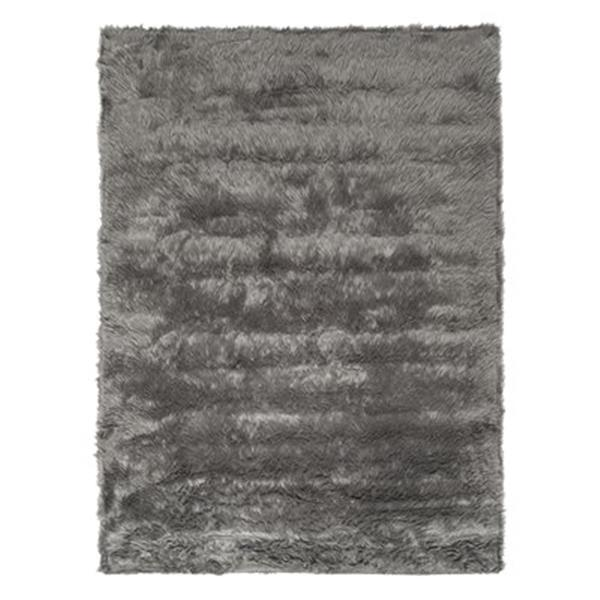Safavieh Faux Sheep Skin 4-ft x 6-ft Grey Area Rug