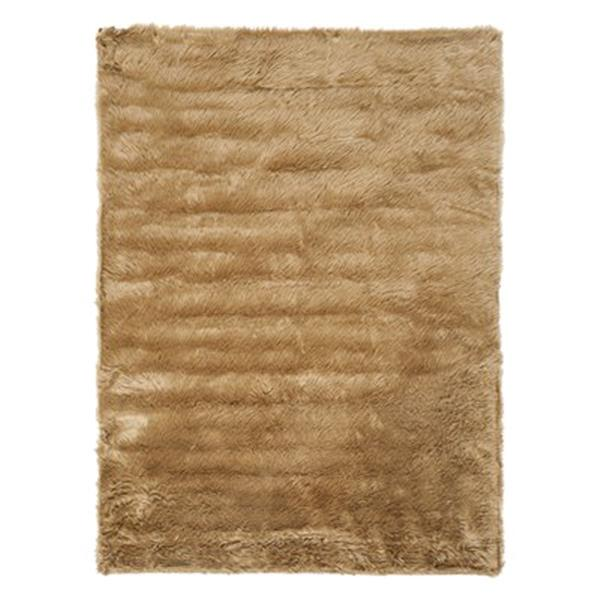 Safavieh Faux Sheep Skin 4-ft x 6-ft Camel Area Rug