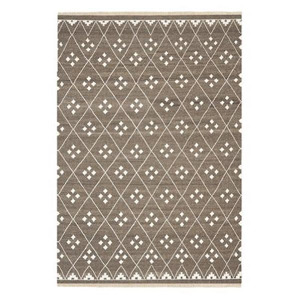Safavieh Natural Kilim 4-ft x 6-ft Geometric Brown / Ivory Area Rug
