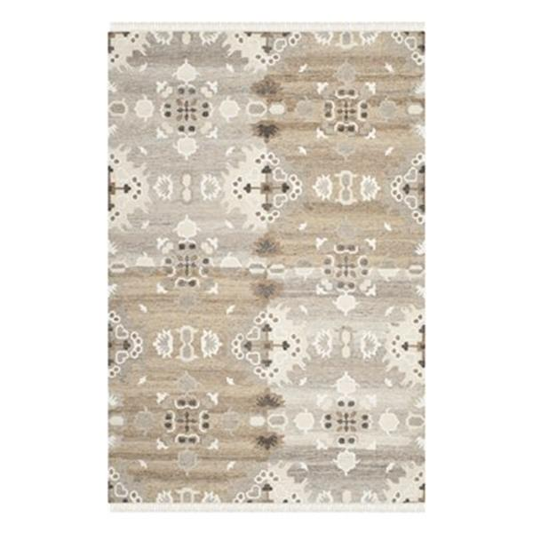 Safavieh Natural Kilim 4-ft x 6-ft Geometric Grey and Multi-Colored Area Rug