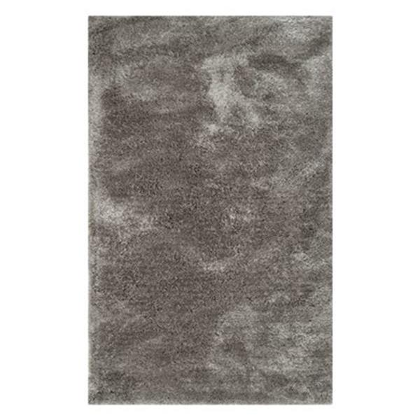 Safavieh South Beach Shag 4-ft x 6-ft Silver Area Rug