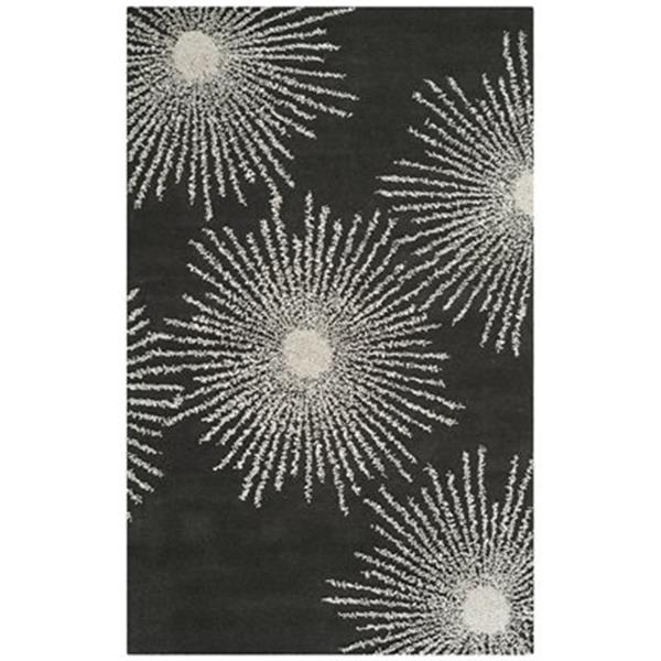 Safavieh Soho 3-ft x 8-ft Floral Charcoal  / Ivory Area Rug