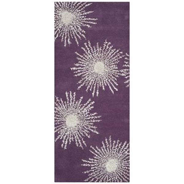 Safavieh Soho 3-ft x 8-ft Floral Purple / Ivory Area Rug