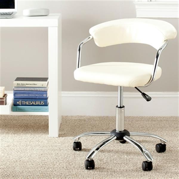 Safavieh Fox 21.1-in White Pier Desk Chair