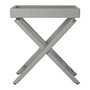 Safavieh 31.90-in Grey Wicker Bardia Tray Table