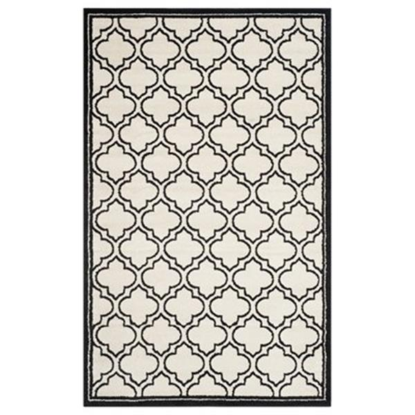 Safavieh AMT412D Amherst Ivory and Anthracite Area Rug,AMT41