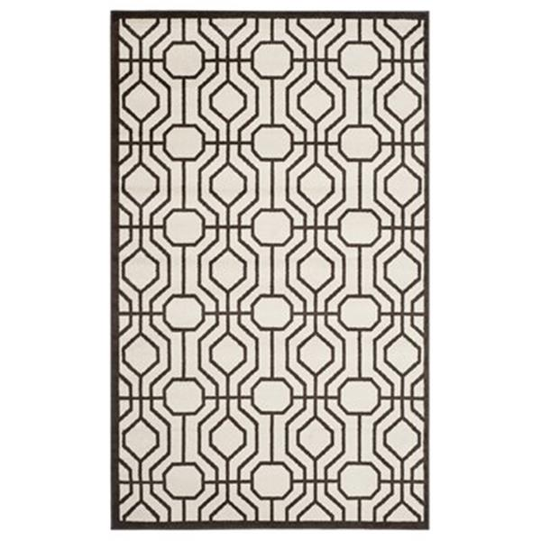 Safavieh Amherst 8-ft X 5-ft Brown Cream Area Rug