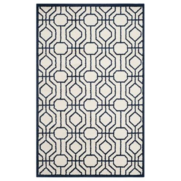 Safavieh Amherst 8-ft X 5-ft Blue Cream Area Rug