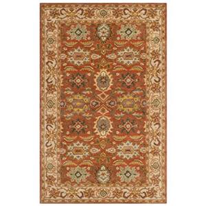 Safavieh Heritage 4-ft x 6-ft Border Rust and Beige Area Rug
