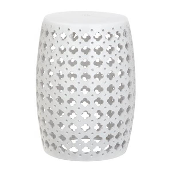 Safavieh Lacey 18-in White Ceramic Garden Stool