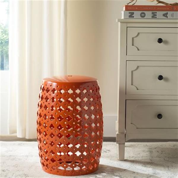 Safavieh Lacey 18-in Orange Ceramic Garden Stool