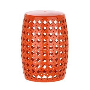 Safavieh Lacey 18-in Orange Ceramic Garden Stool