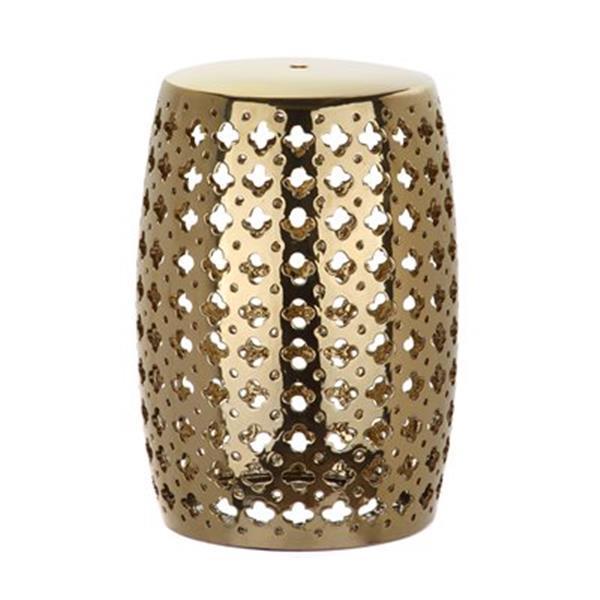 Safavieh Lacey 18-in Gold Ceramic Garden Stool