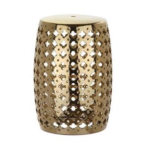 Safavieh Lacey 18-in Gold Ceramic Garden Stool