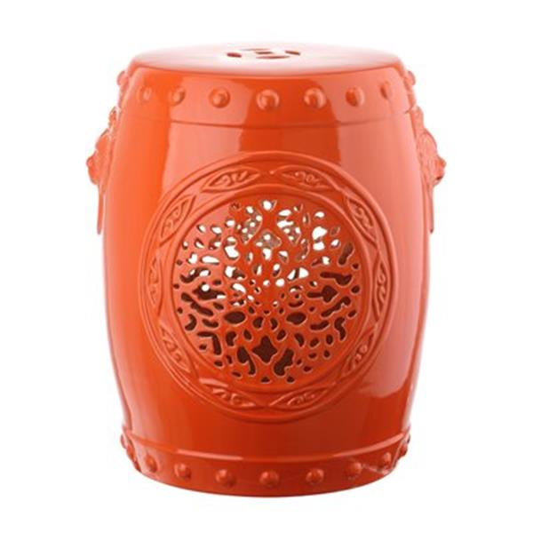 Safavieh Flower Drum 17-in  Spring Green Ceramic Garden Stool