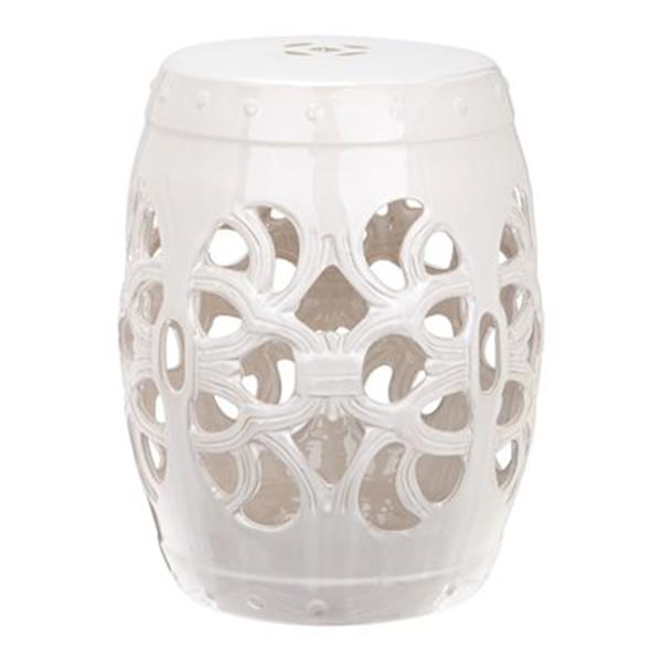 Safavieh Imperial Vine 18-in Antique White Ceramic Garden Stool