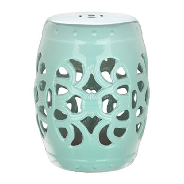 Safavieh Imperial Vine 18-in Light Blue Ceramic Garden Stool