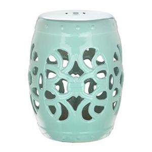 Safavieh Imperial Vine 18-in Light Blue Ceramic Garden Stool