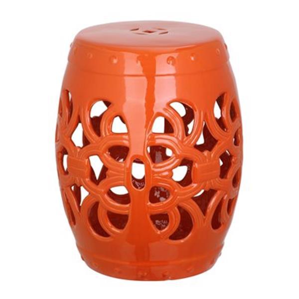 Safavieh Imperial Vine 18-in Orange Ceramic Garden Stool