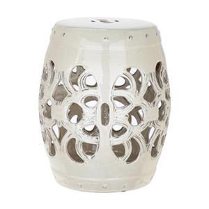 Safavieh Imperial Vine 18-in Cream Ceramic Garden Stool