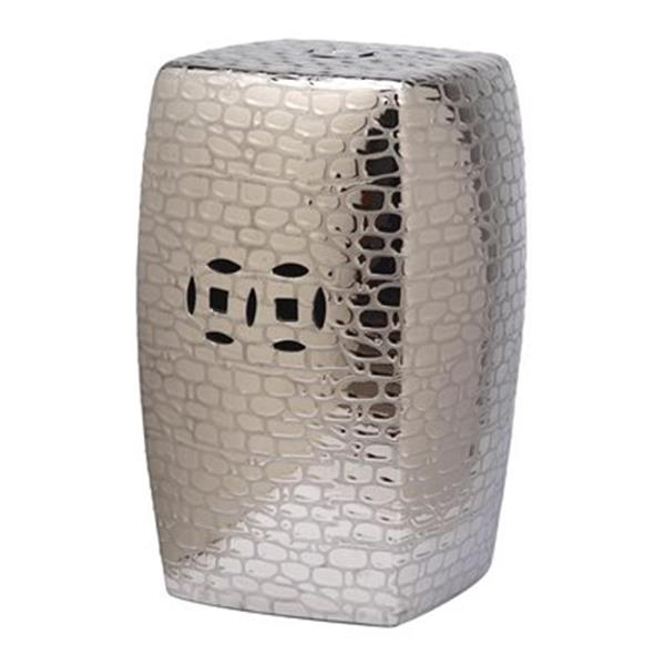 Safavieh Jasmine 20-in Plated Silver Garden Stool