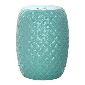 Safavieh Calla 18-in Aqua Ceramic Garden Stool