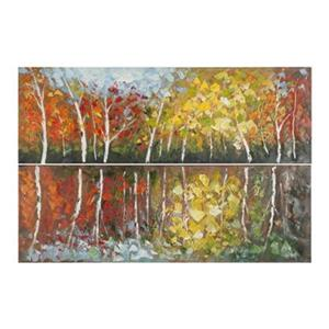 Safavieh32-in x 48-in Autumn Fantasy Diptych Wall Art