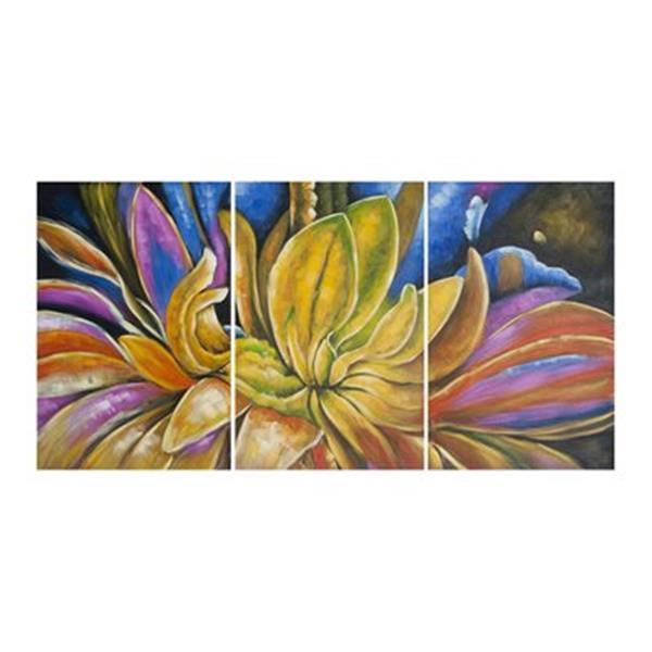 Safavieh 30-in x 60-in Petalista Triptych Wall Art