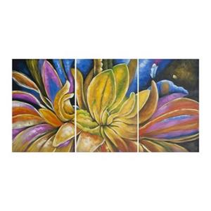 Safavieh 30-in x 60-in Petalista Triptych Wall Art