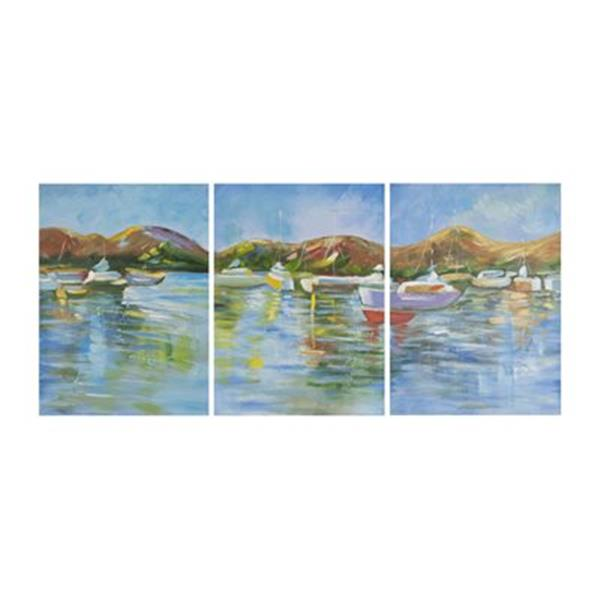 Safavieh 27-in x 60-in Sailors Cove Triptych Wall Art