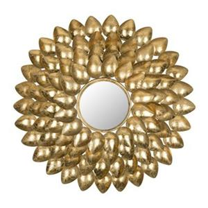 Safavieh Woodland 29-in x 29-in Antique Gold Sunburst Mirror