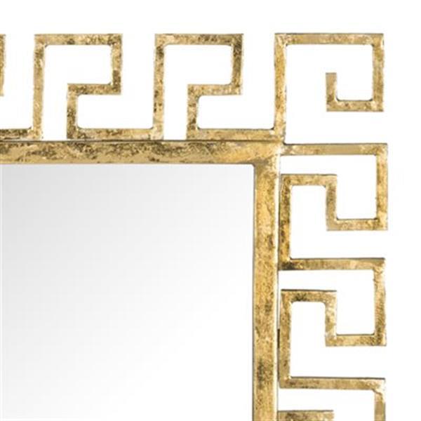 Safavieh Calliope 23-in x 23-in Antique Gold Greek Key  Mirror
