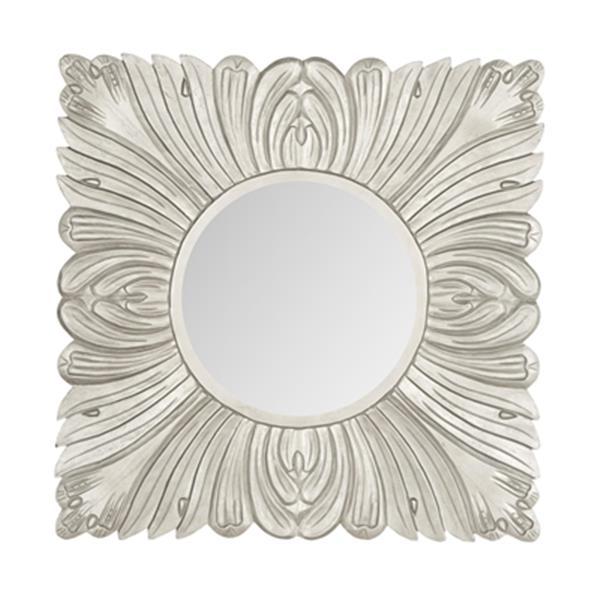 Safavieh 28-in x 28-in Pewter Acanthus Mirror