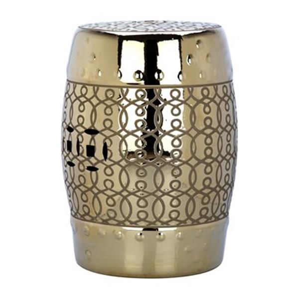 Safavieh Lantana 18-in Gold Ceramic Garden Stool