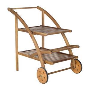 Safavieh 34.3-in Teak Brown Lodi Tea Cart