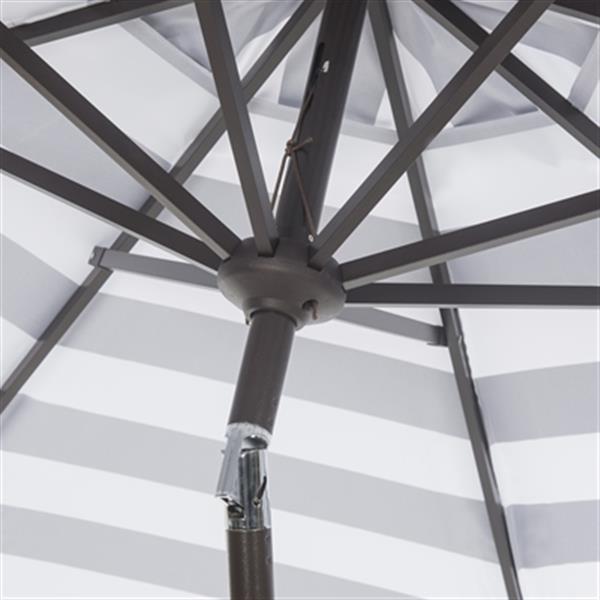 Safavieh Iris Fashion Line 9-ft Black/White Patio Umbrella