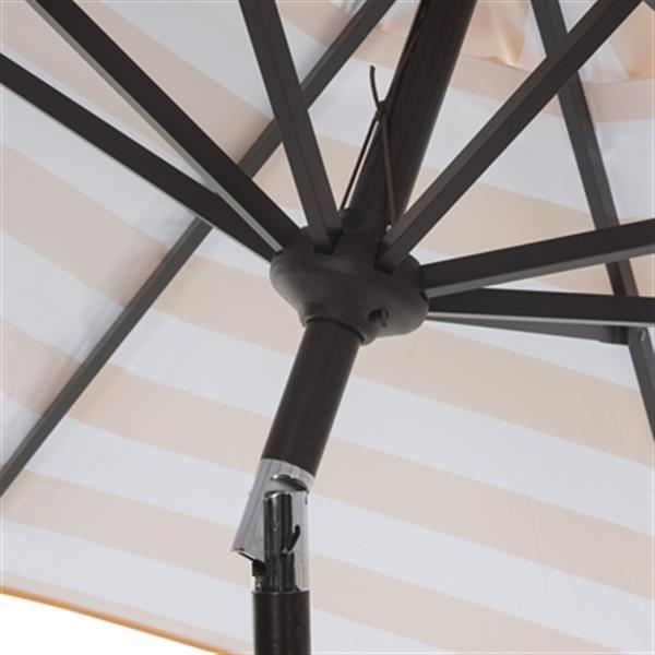 Safavieh Ortega 9-ft Navey Market Auto Tilt Patio Umbrella