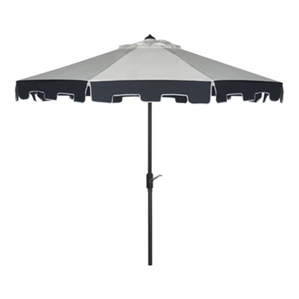 Safavieh Patio City 9-ft Navey/Off-White Market Style Patio Umbrella