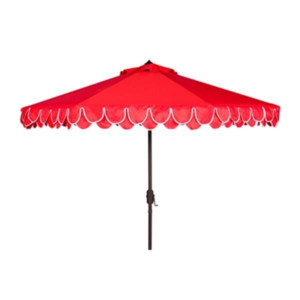 Safavieh Elegant 9-ft Red Drape Auto Tilt Patio Umbrella