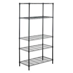 Safavieh Home Accents 71-in Chrome Alpha 5 Tier Wire Rack