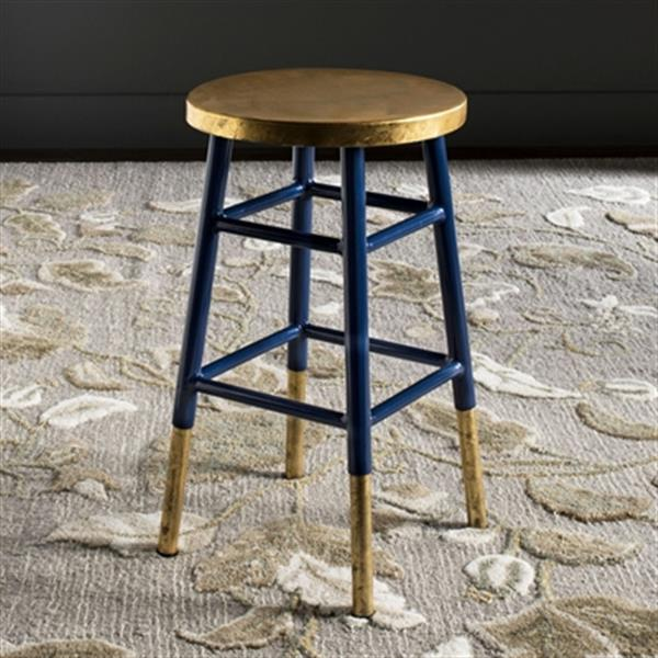 Safavieh Emery 24-in Dipped Gold Leaf Bar Stool