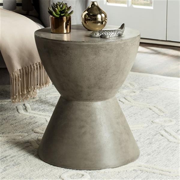 Safavieh Athena 17.7-in Dark Grey Concrete Accent Table