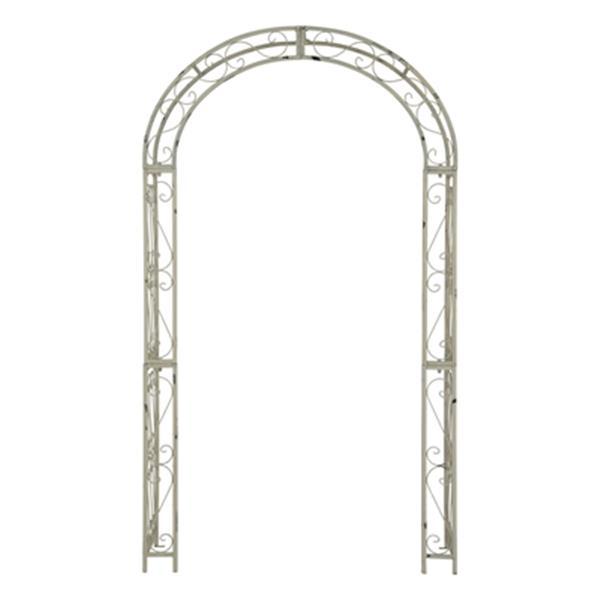 Safavieh 84-in x 48.5-in Antique White Pagan Garden Arch