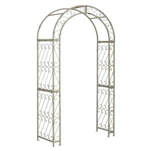 Safavieh 84-in x 48.5-in Antique White Pagan Garden Arch