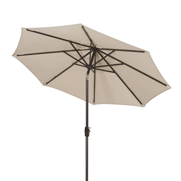 Safavieh Ortega 9-ft Beige Market  Auto Tilt Patio Umbrella